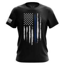 American Flag Military Army Mens Tee - Printed & Packaged in The USA T-Shirt 100% Cotton