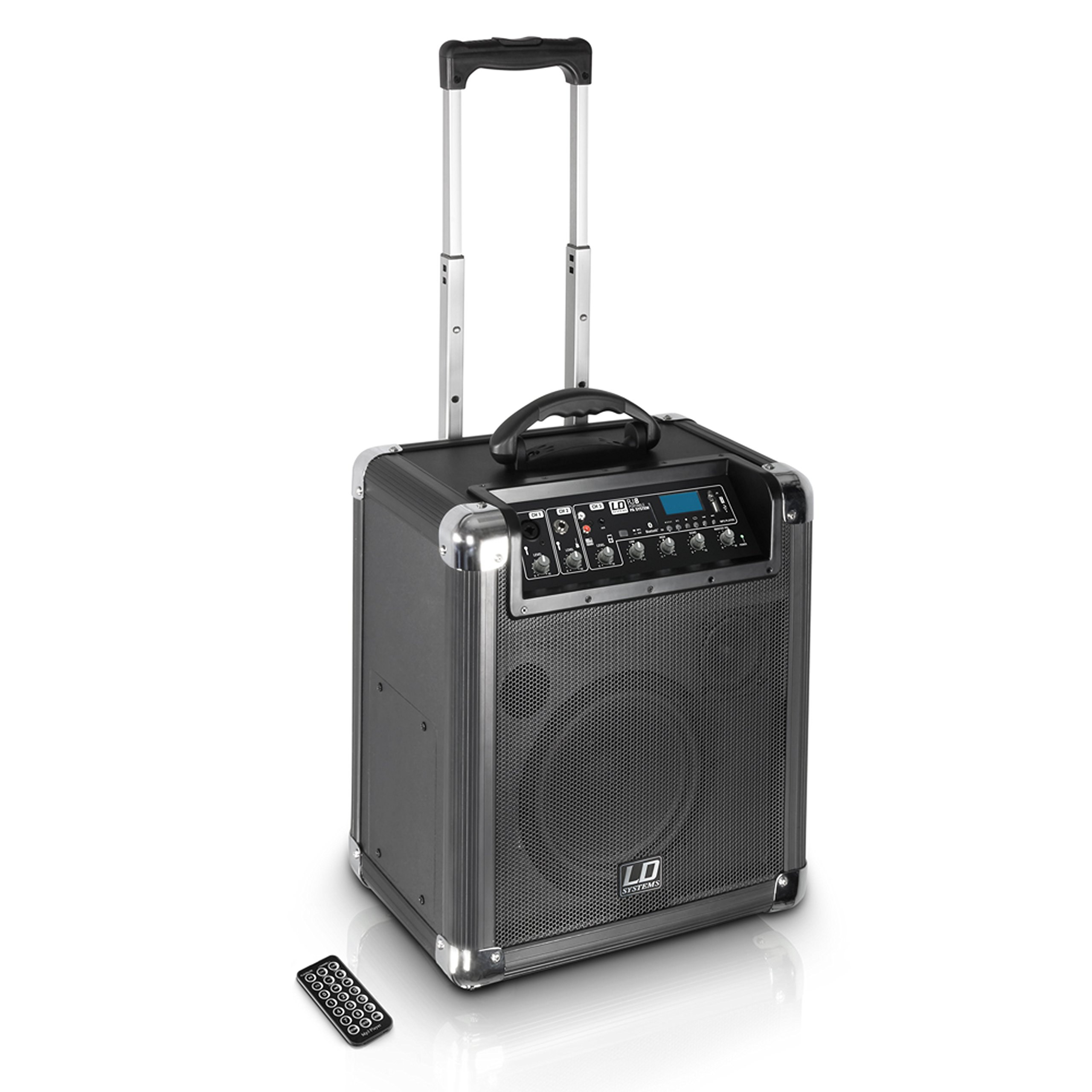 """LD Systems LDSRJ8 Road Jack 8 Battery Powered Bluetooth Speaker with 8"""" Subwoofer"""
