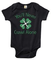 Rapunzie Baby Bodysuit - You'll Never Crawl Alone Celtic FC Baby Clothes for Infants