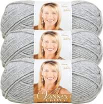 Lion Brand Vanna's Choice Bulk Buy Yarn (3-Pack) Silver Heather 860-405