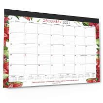 """Wordsworth & Black 2021 Monthly Desk/Wall Calendar Watercolor Flowers 21"""" x 17""""- Desktop Pad Blotter with Notes Section - Academic -Family- Business, Planning - Organizing for Home, Office (Large)"""