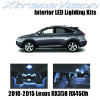 XtremeVision Interior LED for Lexus RX350 RX450h 2010-2015 (10 Pieces) Cool White Interior LED Kit + Installation Tool