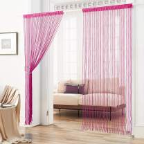HSYLYM String Curtain with Pellet Light Weight Room Accessories,Fit for Doors and Windows,Rose,100x220cm(39x86inch)