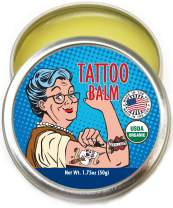 Barker Goods Organic Tattoo Balm – All Natural Tattoo Treatment Aftercare Cream - 100% Vegan Replacement for Petroleum-Based Products - Tattoo Salve that Soothes, Moisturizes, Protects, Heals