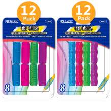 BAZIC Assorted Color & Shape Gel Pencil Grip Pen Grip, Finger Grip for Kids Lefties or Righties Pencil Holder, Writing Learning School Supplies (8/Pack), 24-Pack