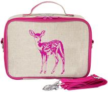 SoYoung Lunch Bag - Raw Linen, Eco-Friendly, Retro-Inspired, Leakproof, Easy to Clean - Pink Fawn
