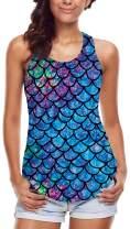 Leapparel Women's Cool Design 3D Printed Sleeveless Racerback Tank Top Vest Shirts …