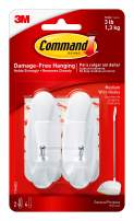 Command White Wire Hooks, Organize Damage-Free, 2-Hooks, 4-Strips (17068ES)