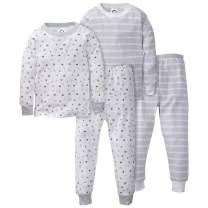 GERBER Boys Toddler Organic 2 Pack 2-Piece Cotton Pjs