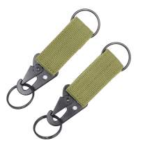 DETUCK(TM Tactical Nylon Belt Keepers Key Ring Keychain Clip Strap Belt Clip Holder Molle Bag Backpack Accessories