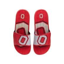 FOCO Men's Sport Shower Flip Flop Sandals Alabama Crimson Tide NCAA Wordmark Gel Slides-L