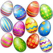 Bigtime Signs 12 Piece Jumbo Reflective Easter Eggs Decor Magnet Set - Fun Automotive Car Decoration Kit - Also for Refrigerator or Mailbox | 1 of Each Color