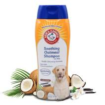 Arm & Hammer Soothing Oatmeal Pet Shampoo | Moisturizing Dog Shampoo with Gentle Cleansing Formula, Made with Natural Ingredients| Vanilla Coconut Scent, 20 Ounces - 6 Pack