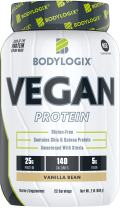 Bodylogix Vegan Plant Based Protein Powder, NSF Certified, Non-GMO, Vanilla Bean, 2 Pound