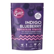 Suncore Foods – Organic Indigo Blueberry Supercolor Powder, 5oz – Natural Blueberry Food Coloring Powder, Plant Based, Vegan, Gluten Free, Non-GMO