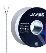 JAVEX CL3/CL2 in-Wall OFC Speaker Wire 16-Gauge AWG [Oxygen-Free Copper 99.9%] for Home Theater and Audio Systems Installation, White, 50FT