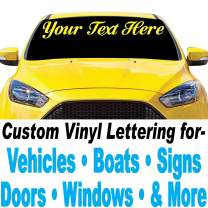 """1060 Graphics 4"""" high Custom Vinyl Lettering - for Cars, Trucks, Boats, Signs, Doors, Windows, and More"""