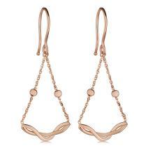 Kooljewelry 14k Gold Swing Dangle Earrings (yellow gold or rose gold)
