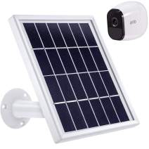 Blulu Solar Panel Only Compatible with Arlo Pro, Waterproof Accessory to Power Outdoor Security Camera Continuously with Adjustable Mount Bracket, 12 Feet/ 3.6 m Cable