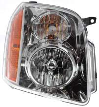 Headlight Assembly Compatible with 2007-2014 GMC Yukon Yukon XL Halogen Passenger Side