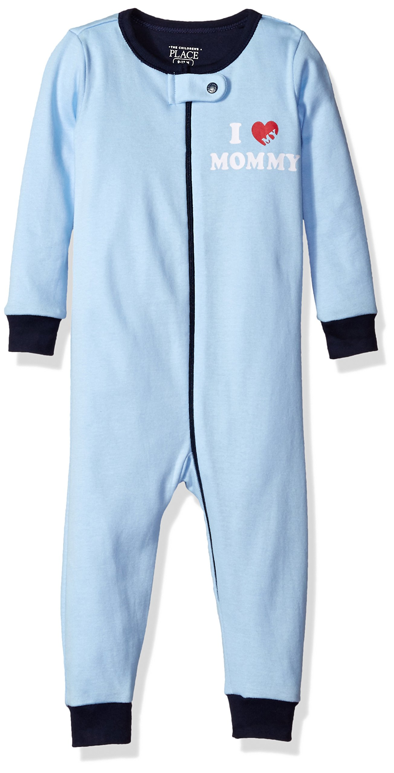 The Children's Place Baby Boys' Long Sleeve One-Piece Pajamas 2
