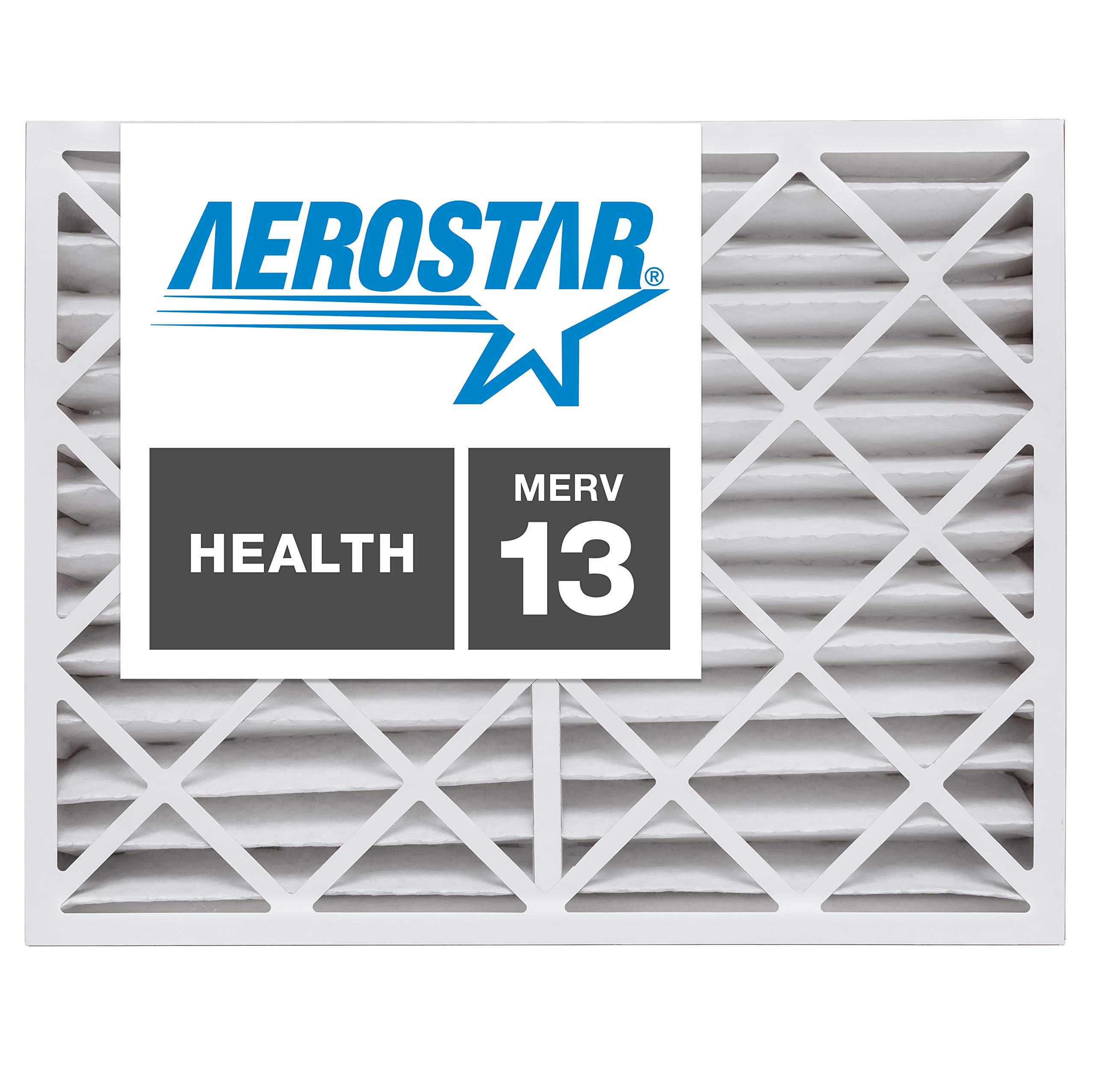 Aerostar 14x20x4 MERV 13, Pleated Air Filter, 14 x 20 x 4, Box of 6, Made in The USA