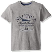 Nautica Boys' Little Short Sleeve Sailing Graphic T-Shirt