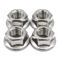 FullerKreg M12 x 1.75mm Serrated Hex Flange Nut,Stainless Steel 304, Bright Finish(5 pcs)