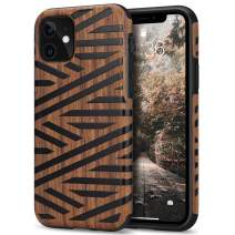Tasikar Compatible with iPhone 11 Case Easy Grip Wood Grain Design Compatible with iPhone 11 (Leather & Wood)