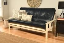 Kodiak Furniture Monterey Antique White Futon Set, No Drawers, Oregon Trail Navy Mattress