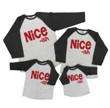 7 ate 9 Apparel Matching Family Christmas Shirts - Funny Nice ish Grey Shirt