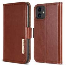 "BENTOBEN iPhone 11 Case, Flip PU Leather Kickstand 3 Credit Card Holder Cash Slots Protective Case for iPhone 11 6.1"", Brown"