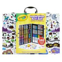 Crayola Imagination Inspiration Art Case 140Piece, Art Set, Gifts for Kids, Age 4, 5, 6, 7 (Styles May Vary), Mulitcolored
