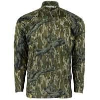 Mossy Oak Quarter Zip Camo Shirts for men, Hunting Clothes for Men, Camo Shirt