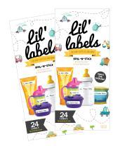 Bottle Labels, Write-On, Self-Laminating, Waterproof Kids Name Labels for Baby Bottles, Sippy Cup for Daycare School, Dishwasher Safe, Boy or Girl (Transportation, Set of 2)