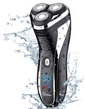 Hatteker Electric Shaver Rotary Razor Men Cordless Beard Trimmer Pop-Trimmer Waterproof