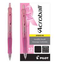 PILOT Acroball Colors Advanced Ink Refillable & Retractable Ball Point Pens, Fine Point, Black Ink, 12 Count (31973)