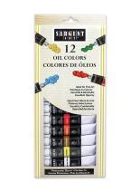 Sargent Art 23-0601 12-Count Tube Oil Colors Paint Set, Premium
