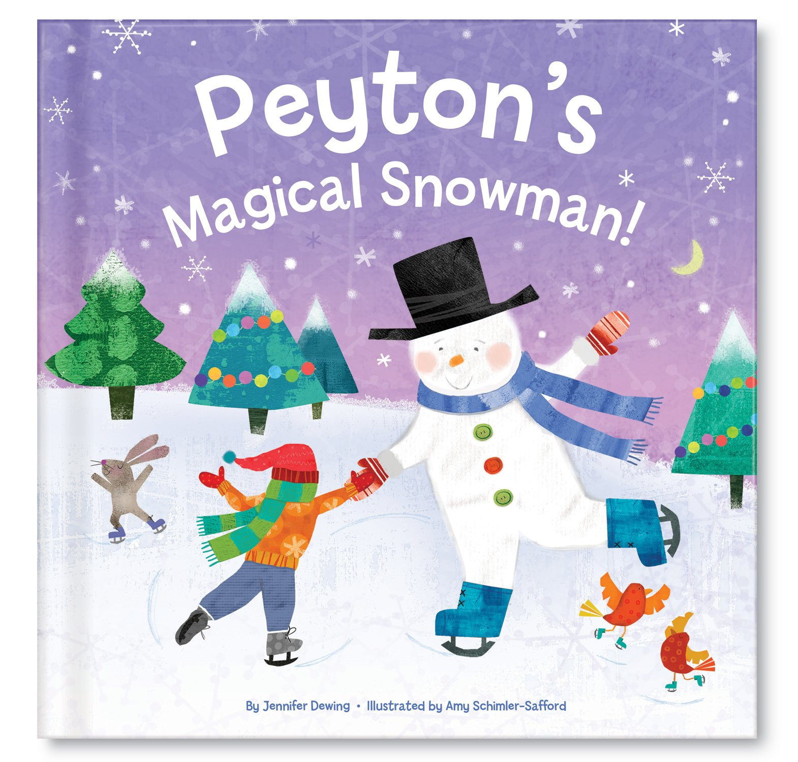 Frosty Snowman Book, Christmas Gift for Kids Boys Girls, Personalized Books for Children