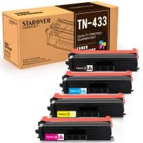 STAROVER Compatible Toner Cartridge Replacement for Brother TN433 TN-433 for HL-L8360CDW MFC-L8900CDW HL-L8360CDWT HL-L8260CDW MFCL8610CDW MFCL9570CDW Color Laser All-in-One TN433 TN431 Printer-4PK