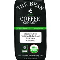The Bean Coffee Company Organic Il Chicco (Traditional Italian Roast), Dark Roast, Whole Bean, 16-Ounce Bag
