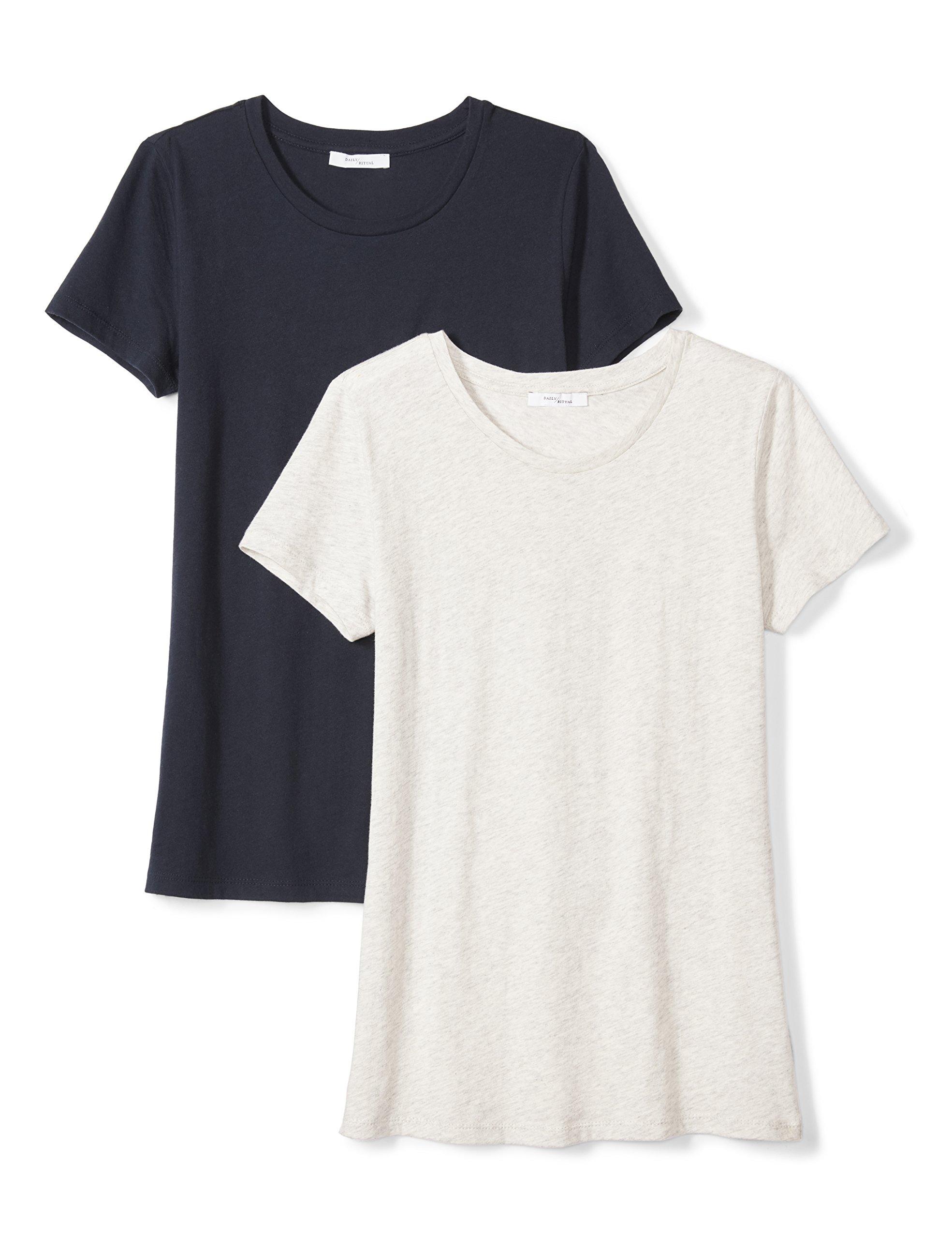 Amazon Brand - Daily Ritual Women's Featherweight Cotton Short-Sleeve Crew Neck T-Shirt