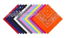100% Cotton Multi-Purpose Paisley Bandanas Cowboy Head Wrap Headbands