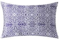 ZIMASILK 100% Natural Mulberry Silk Pillowcase for Hair and Skin, Both Sides Pure Mulberry Silk, Floral Print,1pc (Queen 20''x30'',Blue Leopard)