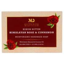 Majestik Bloom Himalayan Rose Natural Bar Soap, with Organic Sweet Almond & Coconut Oil, Nourishes Dry Skin & Sensitive Skin, Face & Body Soap, Vegan & Fragrance Free, For Men, Women & Teens, 125 g