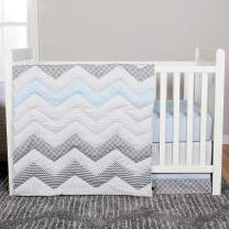 Blue Taffy Geometric Chevron Zig Zag Baby Crib Bedding Sets (3 Pc. Set)