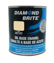 Diamond Brite Paint 31500 1 Quart Oil Base All Purpose Enamel Paint   English Ivory