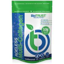 BioTrust Ageless Multi Collagen Protein a 5-in-1 Collagen Powder, 5 Collagen Types (I, II, III, V and X), Hydrolyzed Collagen Peptides, Grass-Fed Beef, Sustainable Fish, Chicken and Eggshell Membrane