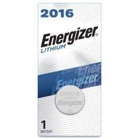 Energizer 2016 Batteries 3V Lithium, (1 Battery Count), Black/Silver (EVEECR2016BP)