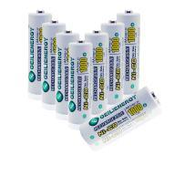 GEILIENERGY Solar Light Batteries AA NiCd 1.2V 1000mAh Rechargable Batteries,AA Rechargeable Batteries for Solar Lamp(Pack of 8)
